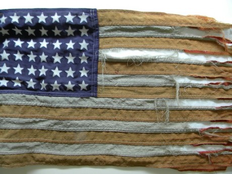 Tattered American Flag - Public Domain