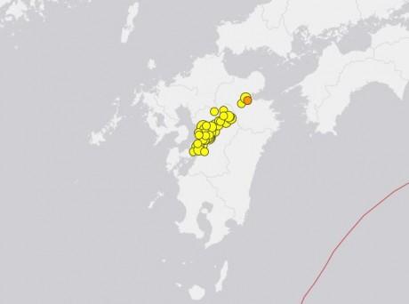 Kyushu Earthquakes April 20
