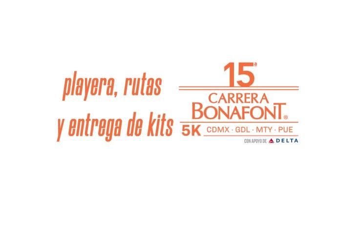Playera, rutas y entrega de kits de la Carrera Bonafont 2019