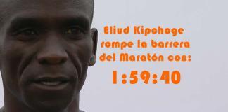 Eliud Kipchoge rompe la barrera del Maratón con 1:59:49