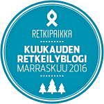 Retkipaikka kuukauden Retkeilyblogi