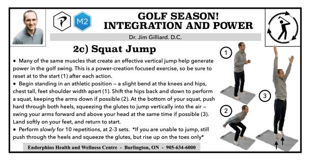 Golf Exercise Jump