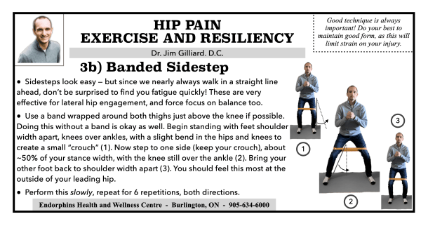 Banded Sidestep Hip Exercise
