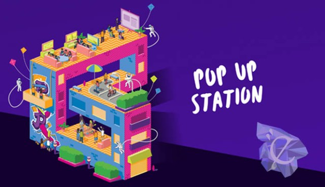 Poster promo Axis Pop-Up Station