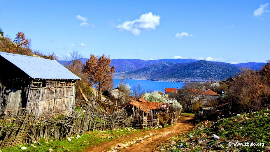 Gollomboc is locaed in a North facing bay with views of the Macedonian and Greek side of the lake.