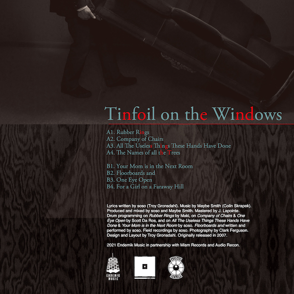 soso - Tinfoil on the Windows - Back Cover