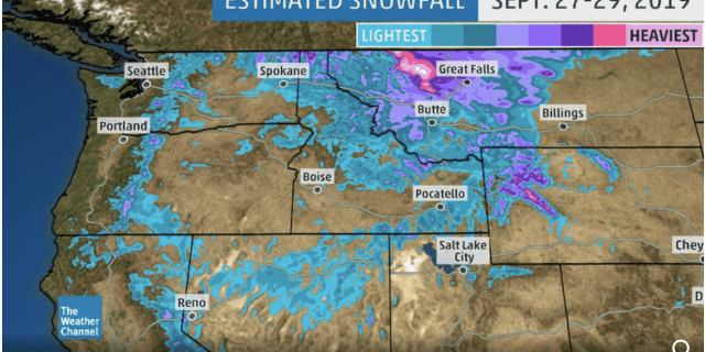 Record-Smashing, Historic September Snowstorm Brings Up to 4 Feet of Snow, Blizzard Conditions to Northern Rockies