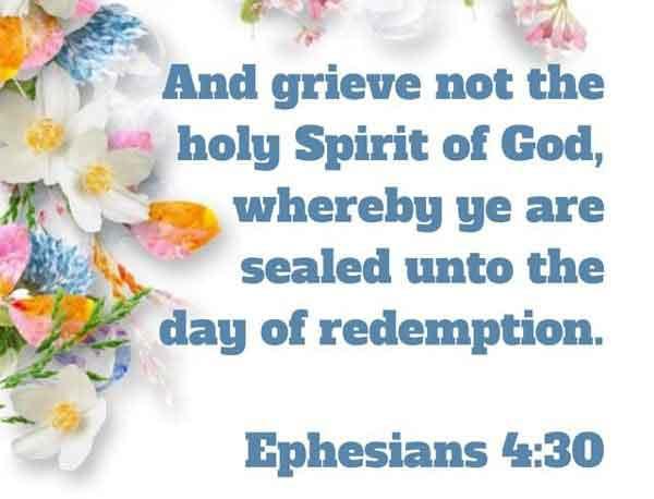 Ephesians 4:30 Kjv