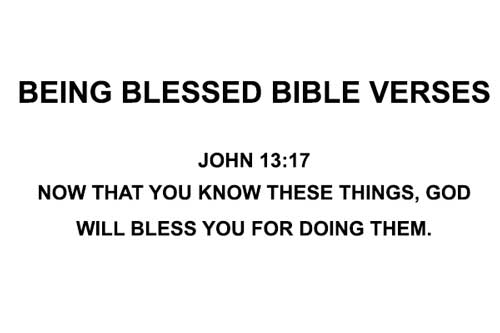 being blessed bible verses