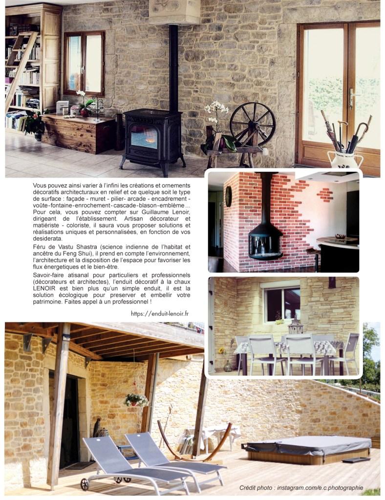 maison & jardin enduit lenoir décoration pierre