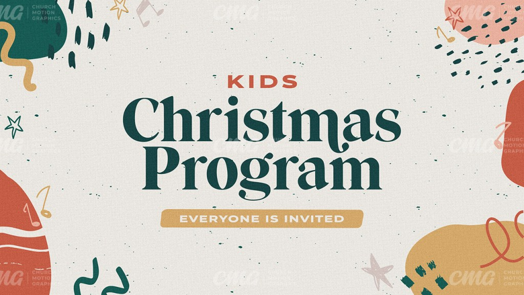 Kids Christmas Program **This graphic is available for purchase from Church Motion Graphics: https://shop.churchmotiongraphics.com/library/template