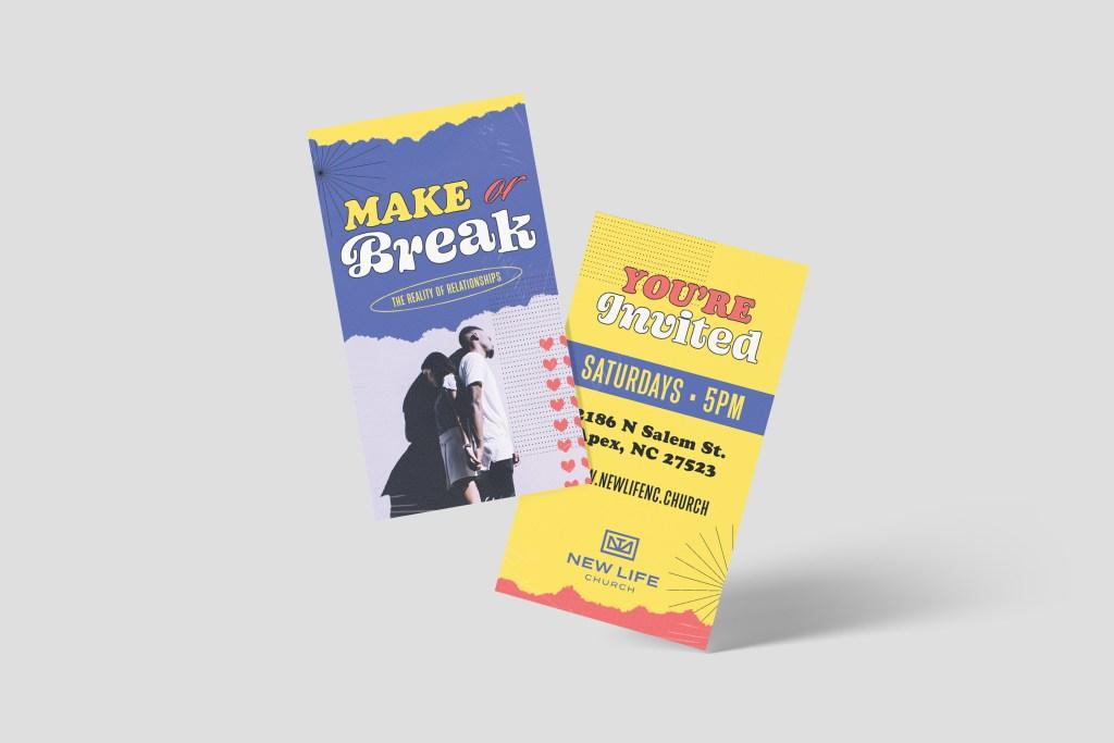 Make Or Break Invite Card Sermon Series