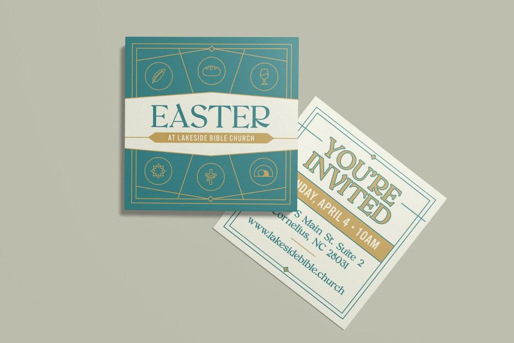 Easter At Lakeside Bible Invite Mockup