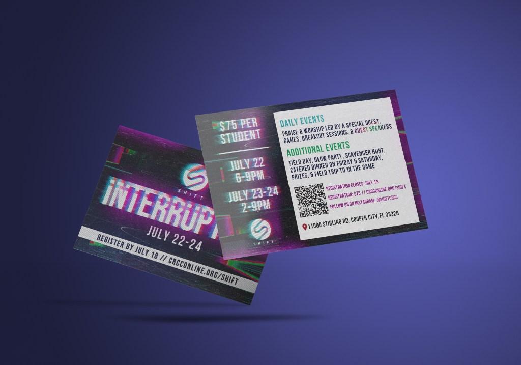 Interruption Invite Card Mockup
