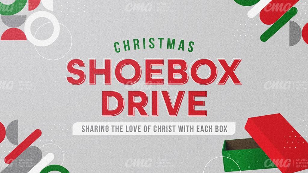 Christmas Shoebox Drive Geometric Shapes Red Green Box-Subtitle