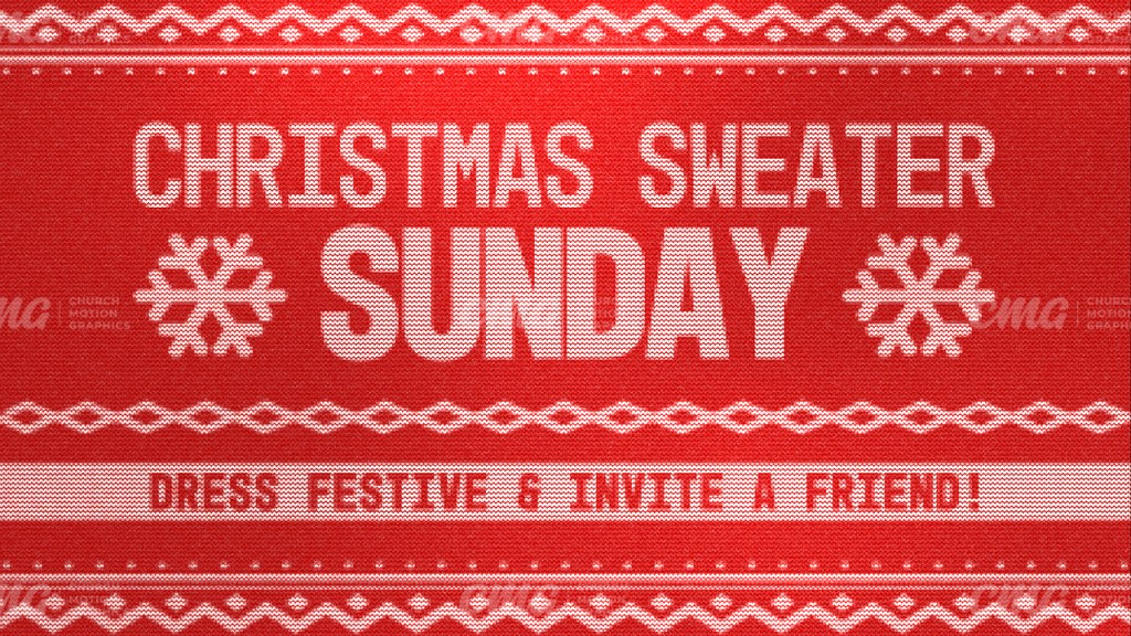 Christmas Sweater Sunday Red Pattern Fabric Texture-Subtitle