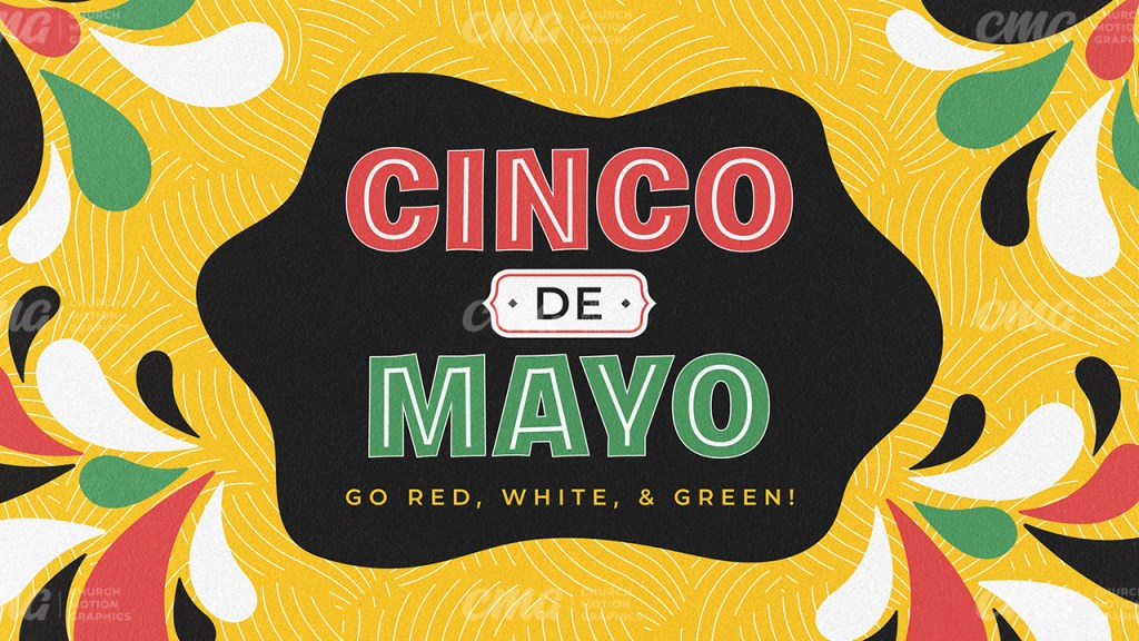 Cinco De Mayo Colorful Illustration Shapes-Subtitle
