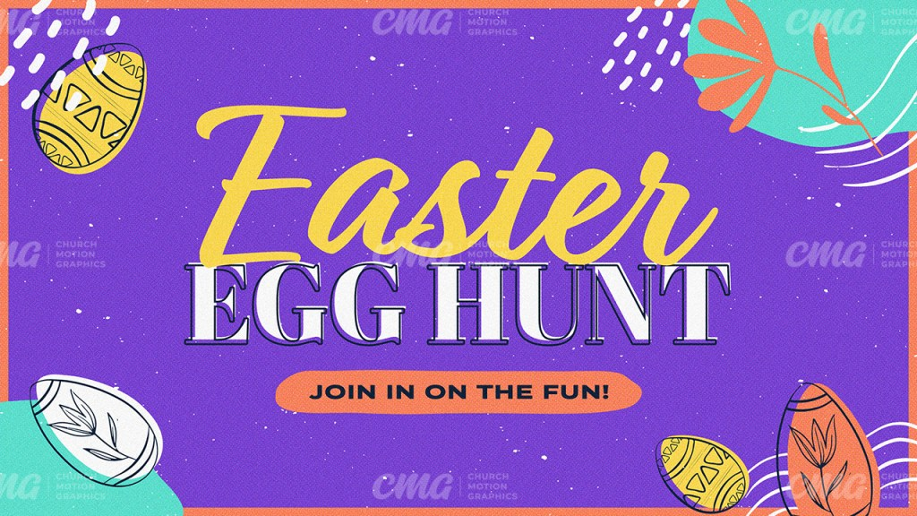 Easter Egg Hunt Purple Colorful Abstract Illustrations-Subtitle
