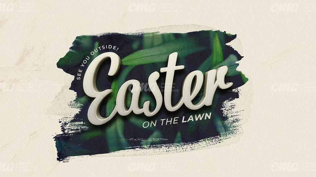 Easter On The Lawn Brush Grass 3D Text-Subtitle