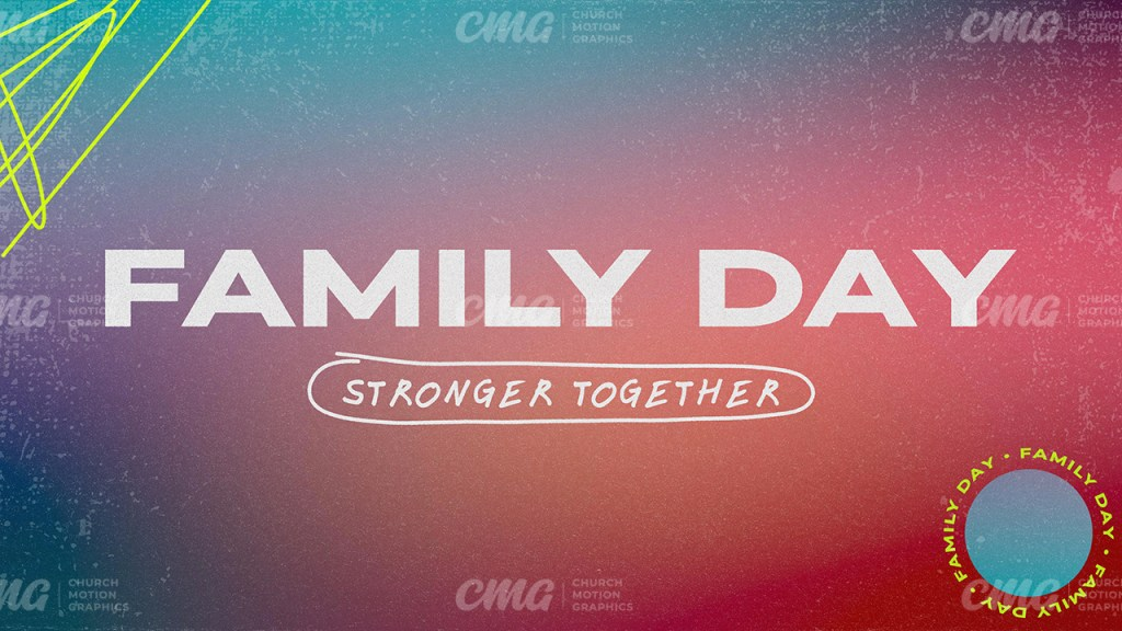 Family Day Colorful Gradient Circle Scribbles Handwritten-Subtitle