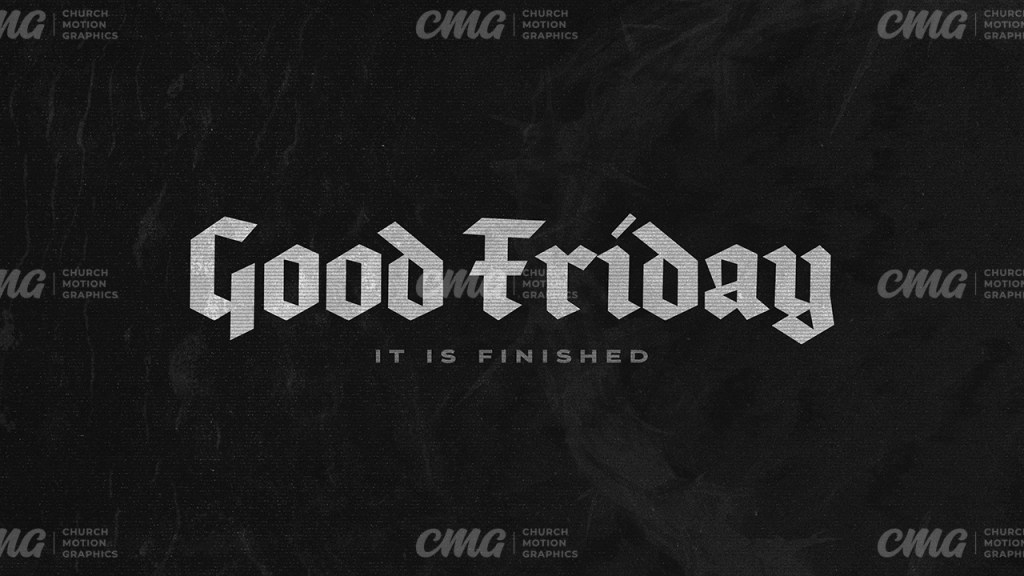Good Friday Black White Crown Of Thorns-Subtitle