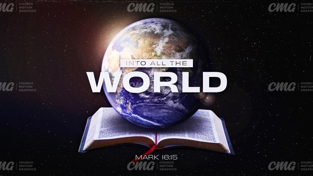 Into All The World Open Bible Earth Space-Subtitle