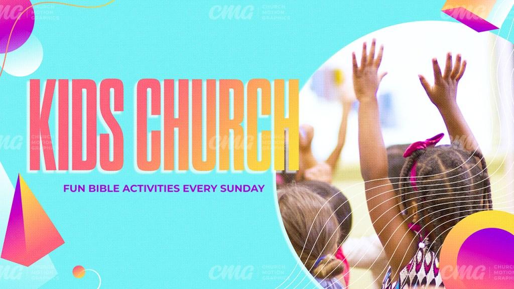 Kids Church Colorful Shapes Gradient Photo-Subtitle
