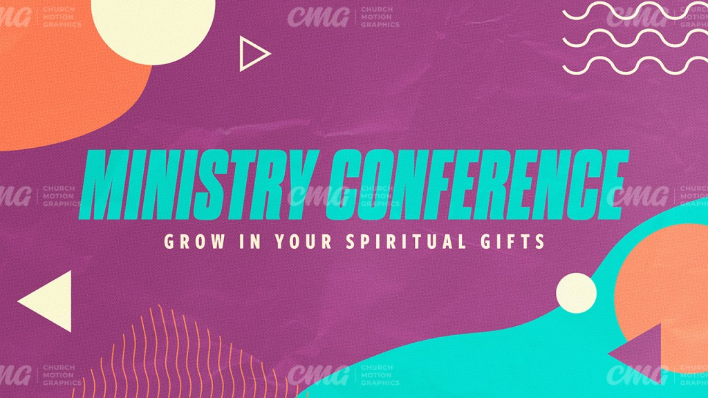 Ministry Conference Colorful Abstract Shapes-Subtitle