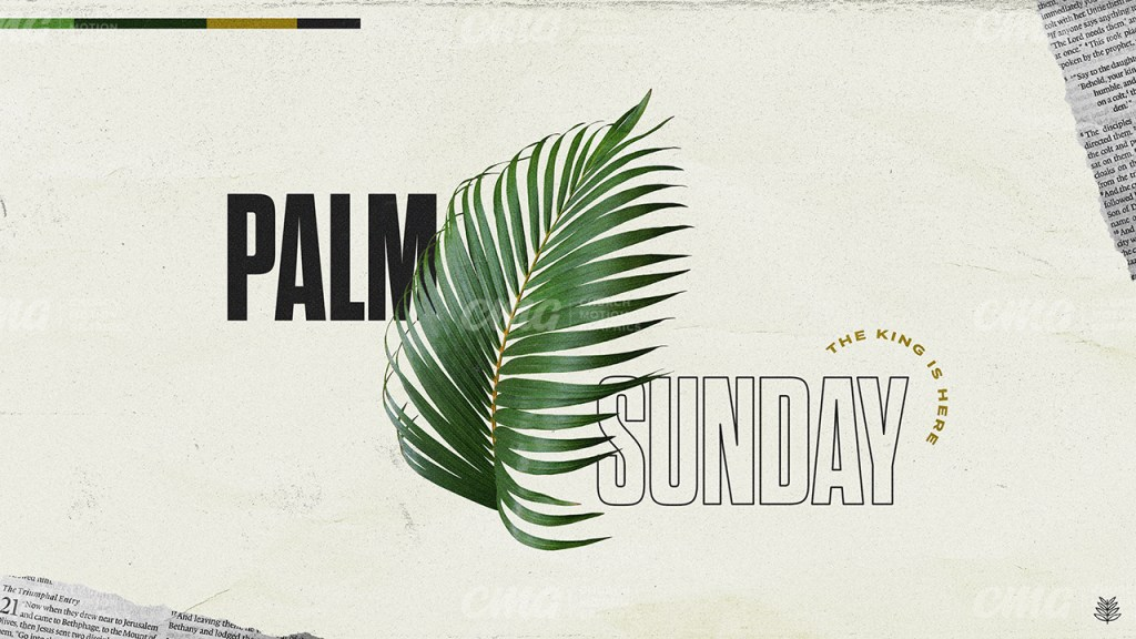 Palm Sunday Bible Pages Branch Icon Outline Text-Subtitle