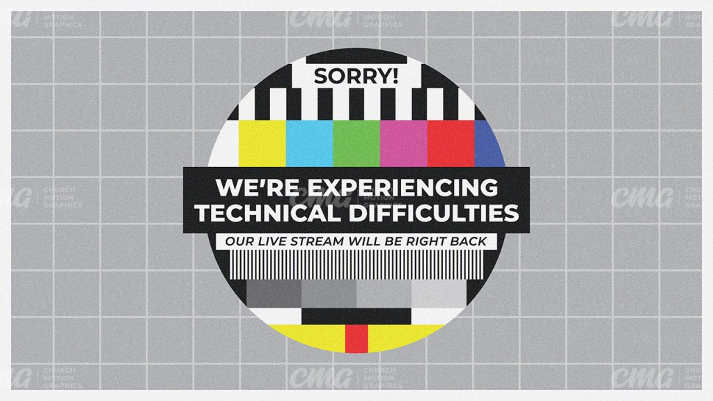 Sorry We're Experiencing Technical Difficulties Retro TV Signal Circle-Subtitle