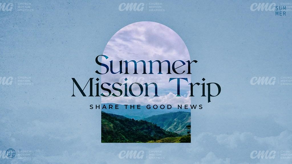 Summer Mission Trip Clouds Photo Arch-Subtitle