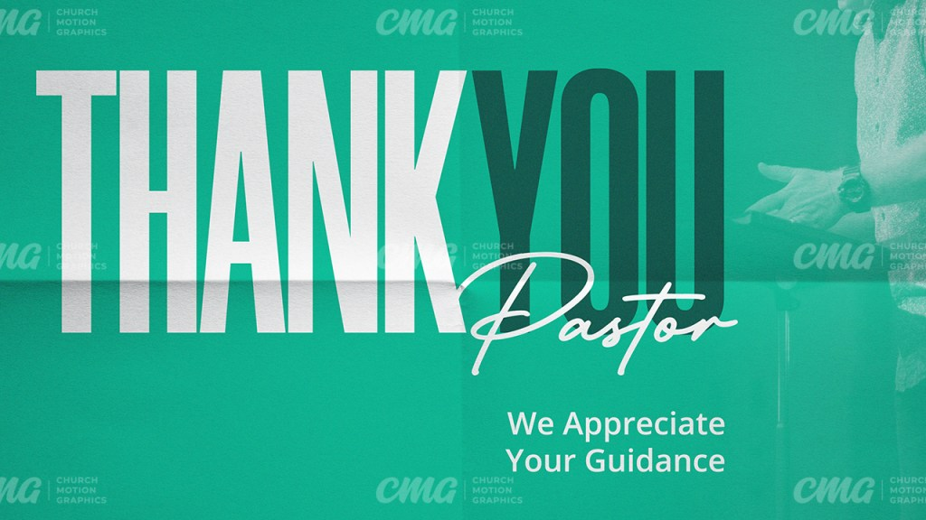 Thank You Pastor Bright Green-Subtitle