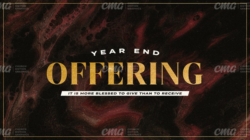 Year End Offering Dark Paint Gold Text-Subtitle