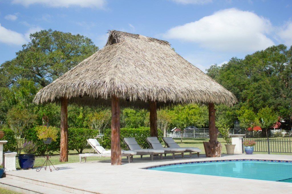synthetic thatch pavilions