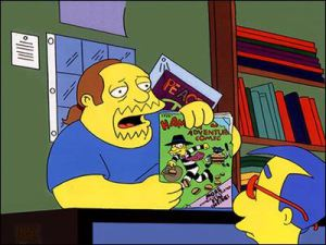 El vendedor de comics (Simpson)