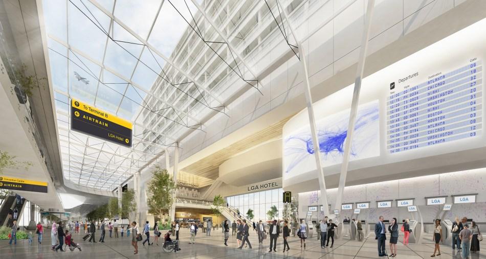 La Guardia aeropuerto renovación