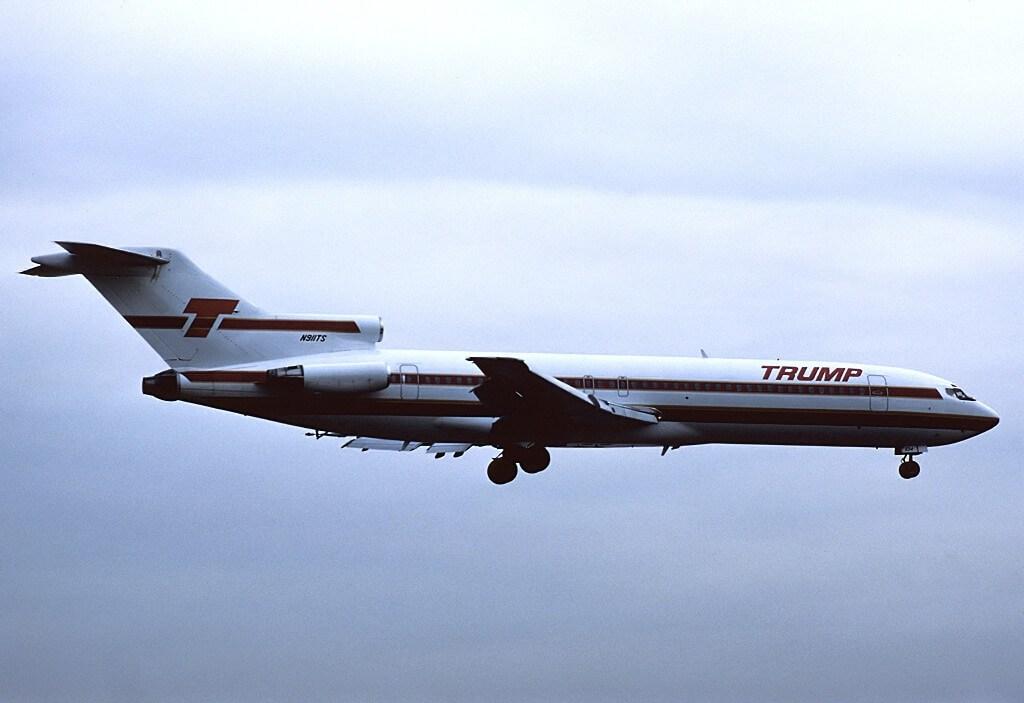 Un 727-200 de Trump Shuttle en 1989 (Foto: Felix Goetting)