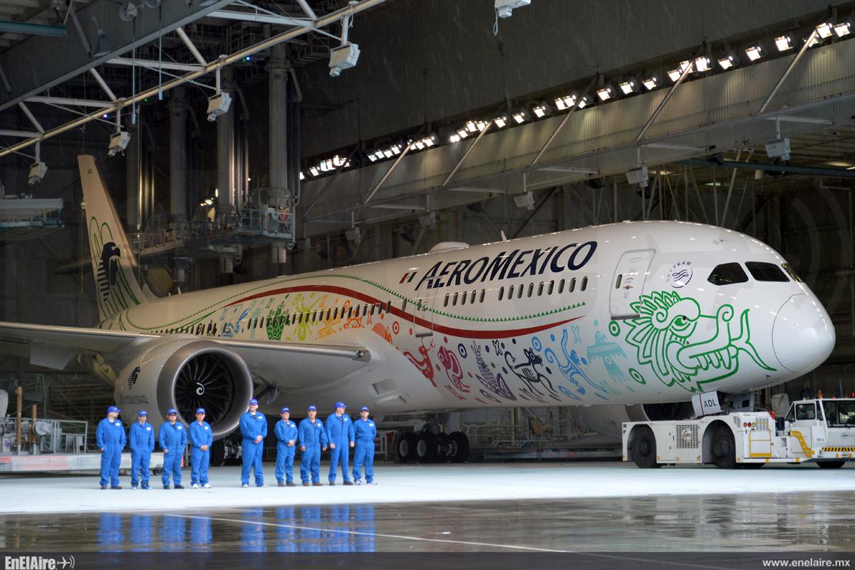El día de hoy, en la planta de Boeing en Seattle Washington, fue la ceremonia de presentación del primer Boeing 787-9 de Aeroméxico