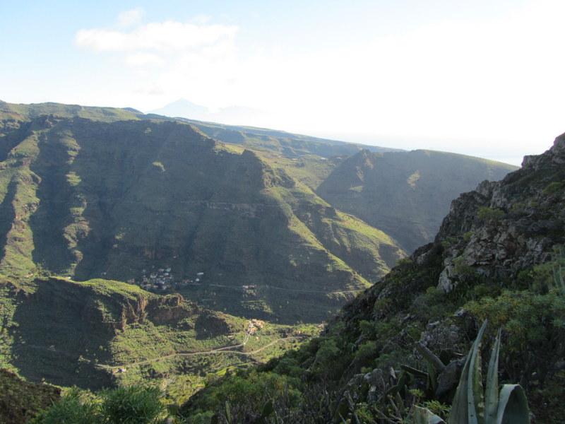 Utsikt på vandring, La Gomera