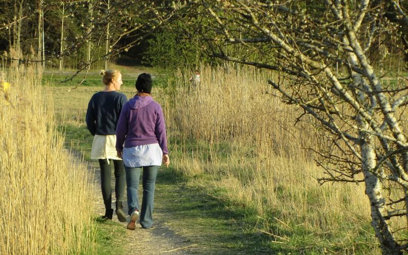 Två på promenad
