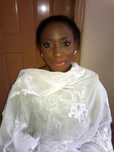 Nigerian Nikkai makeup, cream glitter eyeshadow