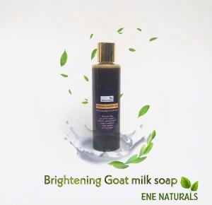 Brightening goat milk soap