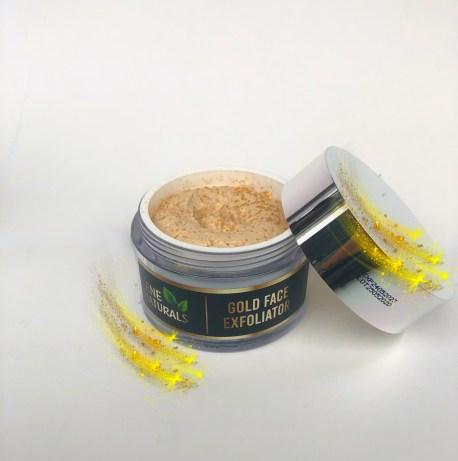 gold face exfoliator