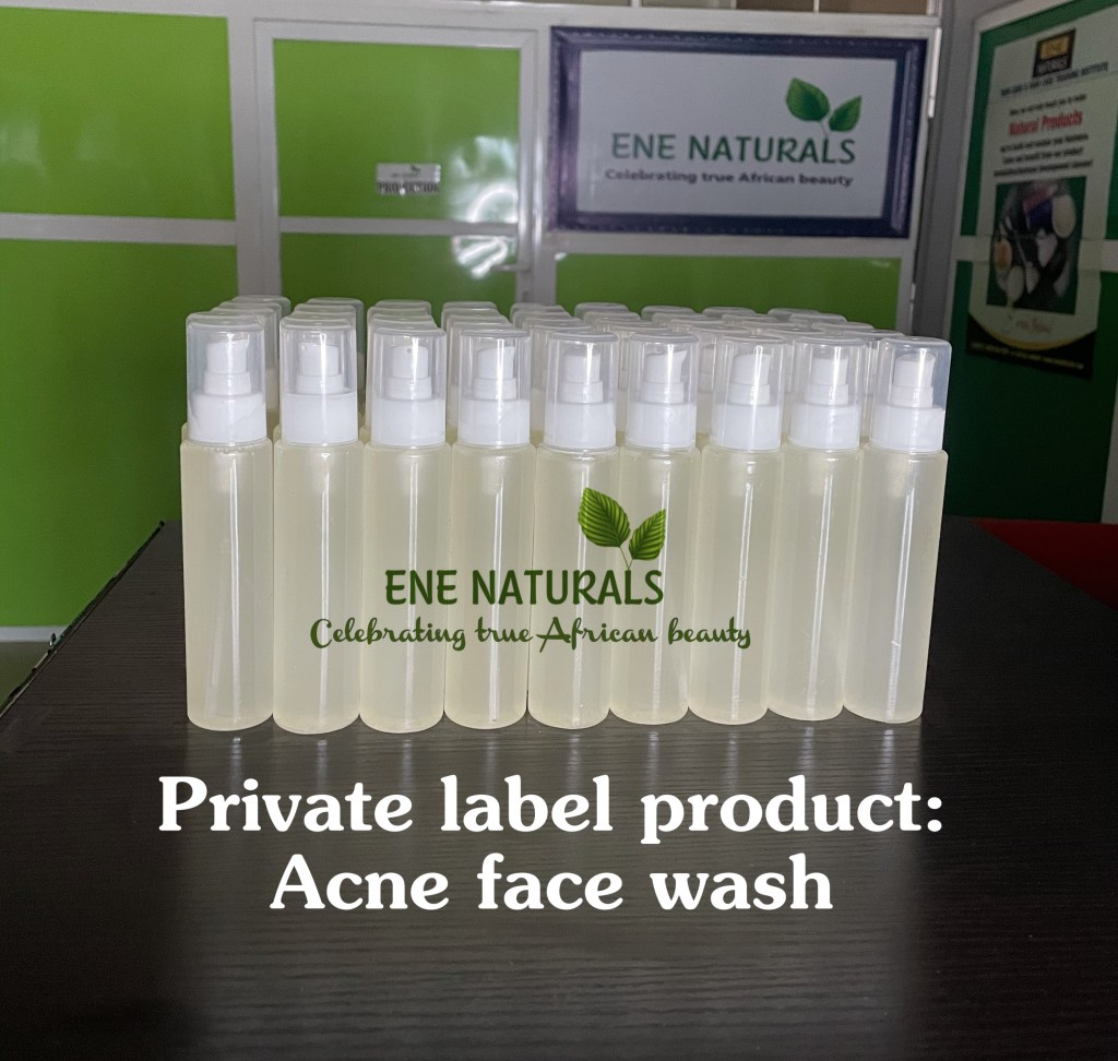 private label acne face wash