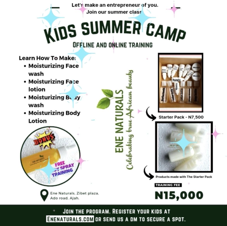 Kids natural skincare summer camp