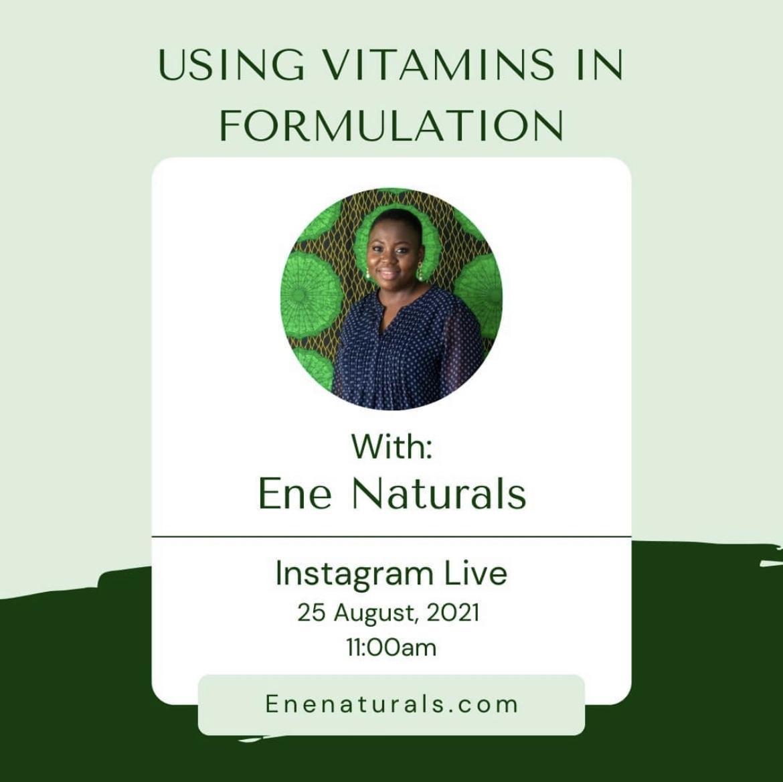 Formulating with vitamins