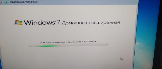 Замена винчестера и установка Windows 7 и ПО