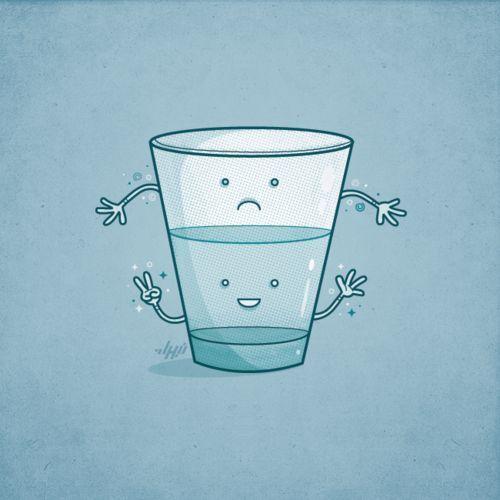 ver el vaso medio lleno