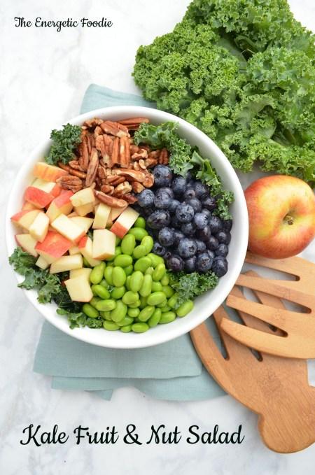 kale fruit and nut salad