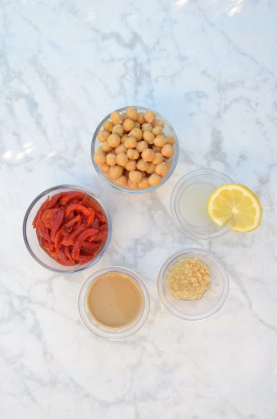 red pepper hummus ingredients